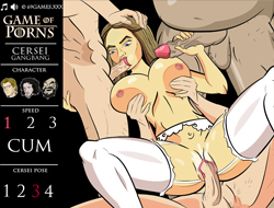 game of porns: cersei gang-bang porn games online