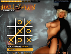 halloween: hot pumpkin tic tac toe porn games online